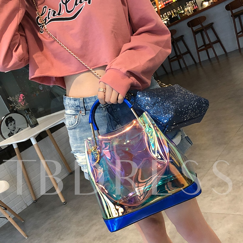 Korean Style Summer PVC Chain Soft Tote Bag