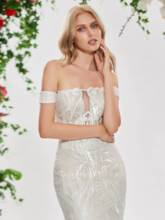 Off the Shoulder Mermaid Lace Wedding Dress with Shawl