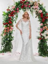 Appliques Backless Wedding Dress with Sleeve