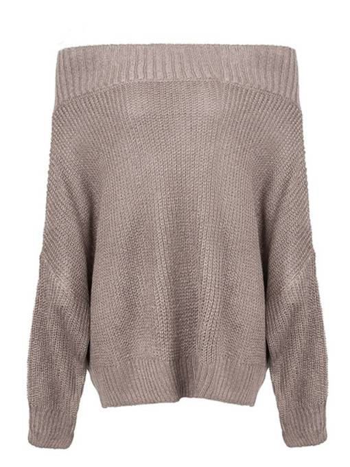 Loose Fit Off Shoulder Pullover Women's Sweater