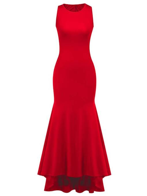 Sleeveless Asym Bodycon Women's Maxi Dress