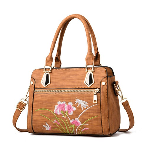 Distinctive Floral Rectangle Small Tote Bag