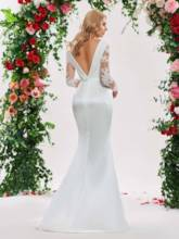 Appliques Trumpet Long Sleeve Wedding Dress 2019