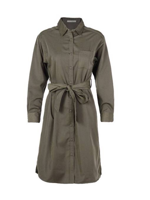 Army Green Lace Up Singl-Breasted Women's Trench Coat