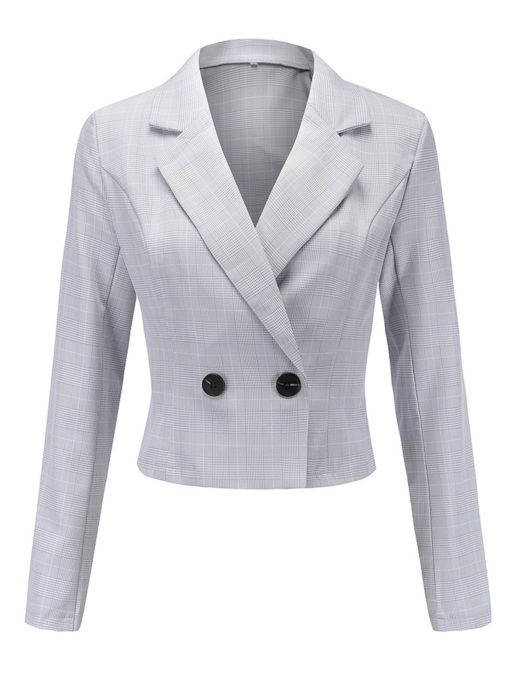 Classic Two Button Notched Lapel Short Women's Blazer