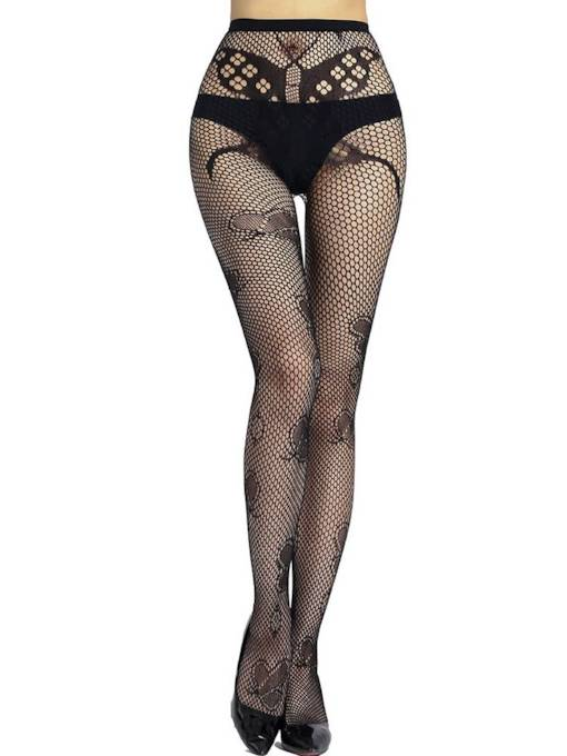 Butterfly Jacquard Small Mesh Pantyhose Stocking
