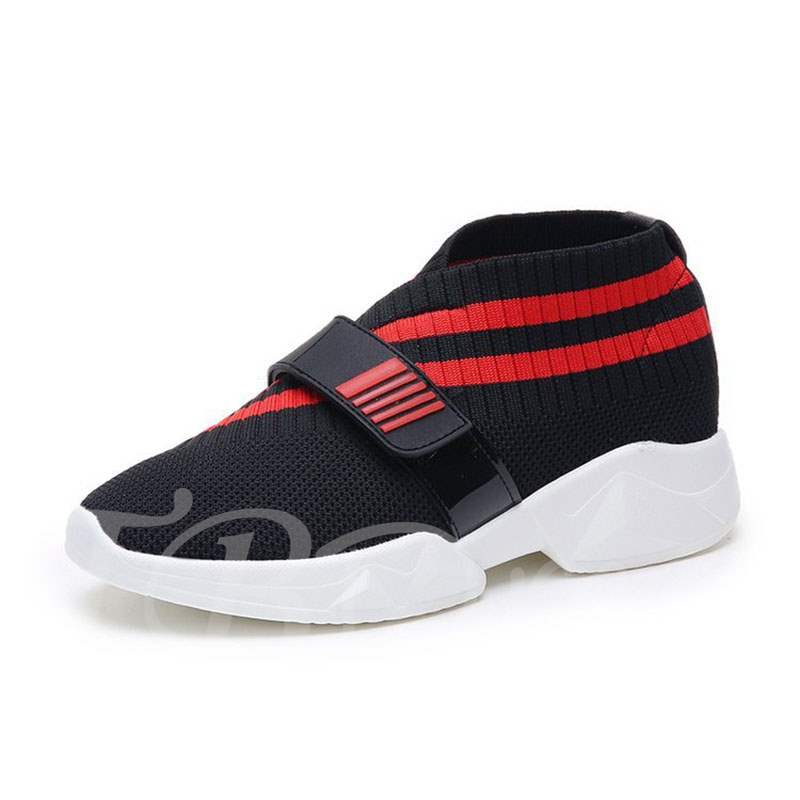 Buy Mesh Velcro Round Toe Stripe Comfy Women's Sneaker, Spring,Fall, 13391417 for $34.81 in TBDress store