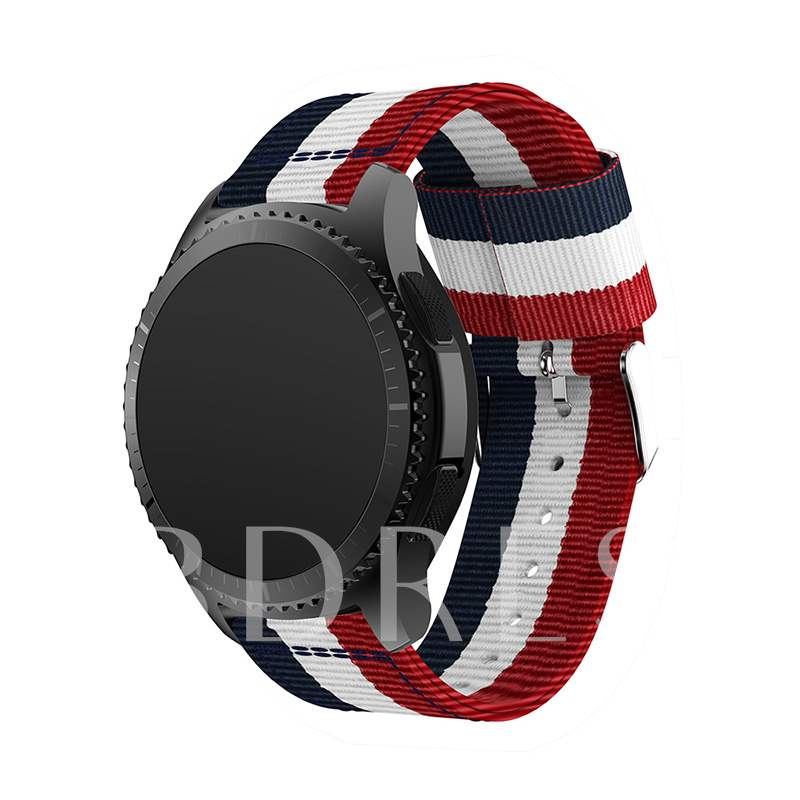Gear S3 Band, Nylon Striped Replacement Strap Bands