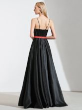 A-Line Spaghetti Straps Sashes High Low Prom Dress