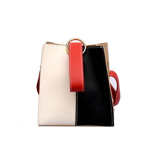 Occident Style Color Block Magnetic Snap Tote Bag
