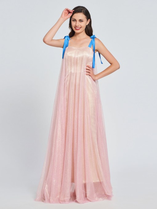 A-Line Straps Multi Color Prom Dress