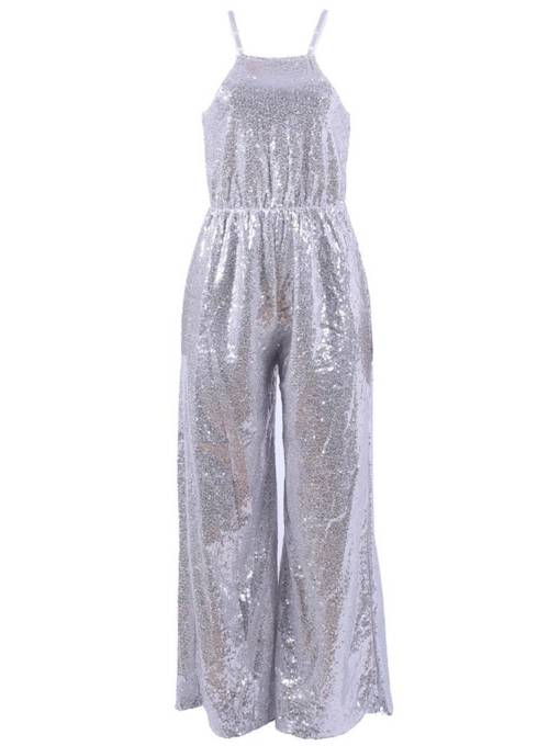Loose Strap High Waist Sequins Women's Jumpsuit