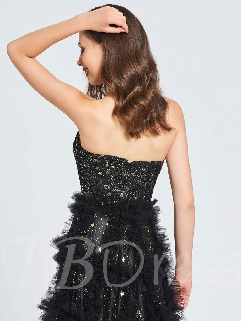 A-Line Hollow Sweetheart Sequins Prom Dress