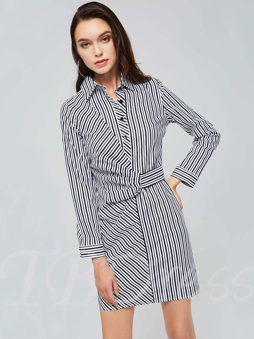 3/4Length Sleeve Button Sheath Dress