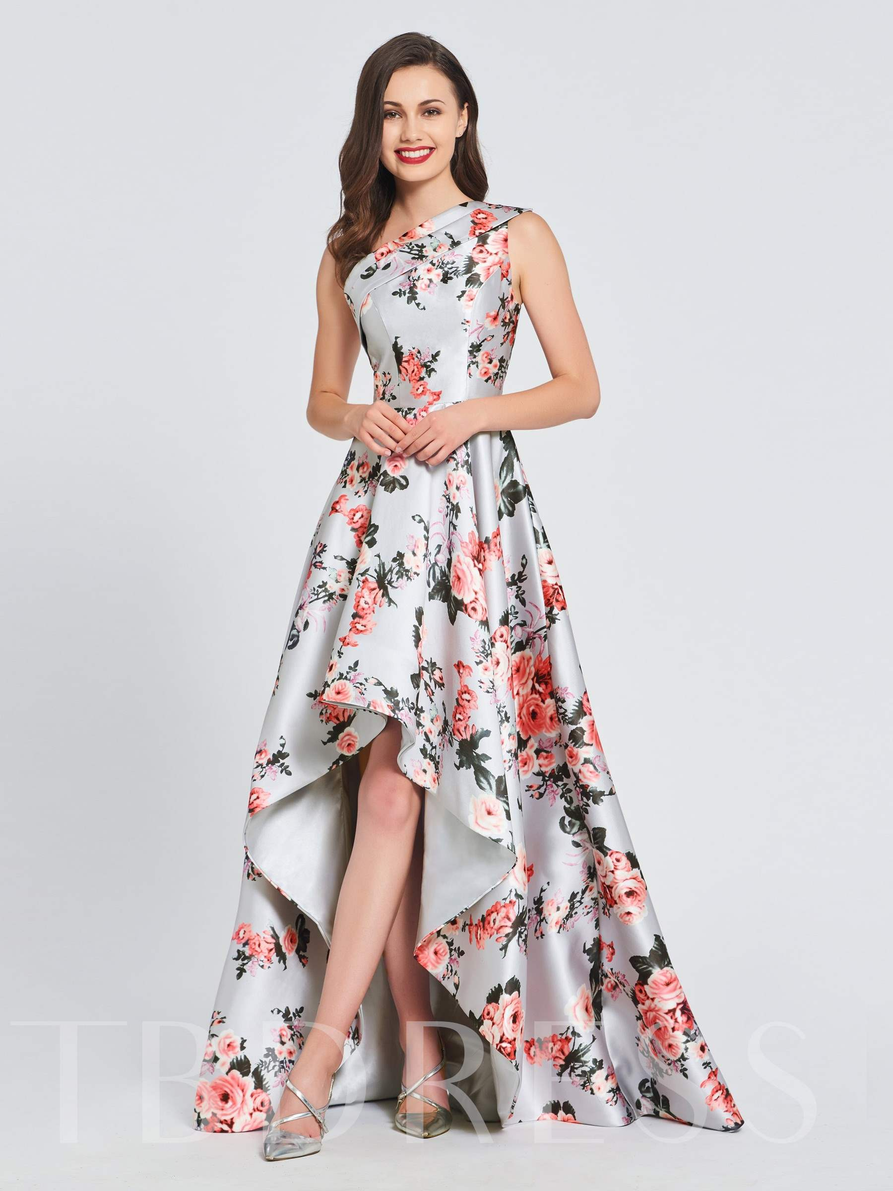 Buy A-Line One-Shoulder Printed Prom Dress, Spring,Summer,Fall,Winter, 13391623 for $142.99 in TBDress store