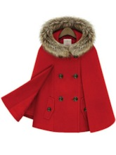 Faux Fur Patchwork Double-Breasted Women's Cape Overcoat