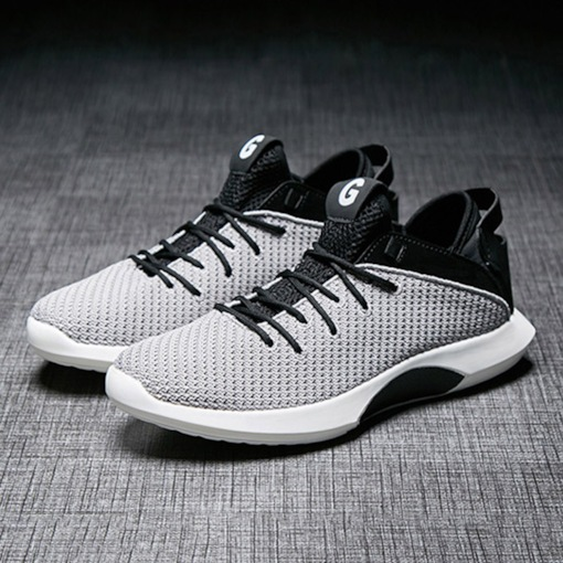 Mesh Lace-Up Round Toe Breathable Men's Trainers