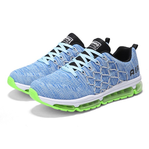 Lace-Up Mesh Round Toe Flat Lightweight Men's Sneakers