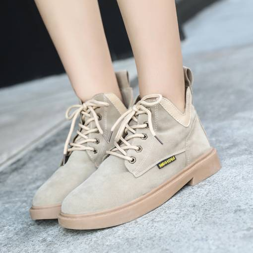 Round Toe Front Zipper Block Heel Casual Fashion Women's Ankle Boots