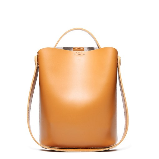 Modern Barrel Shaped Synthetic Leather Soft Tote Bag