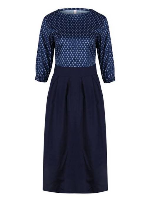 3/4 Length Sleeves Polka Dots Women's Day Dress