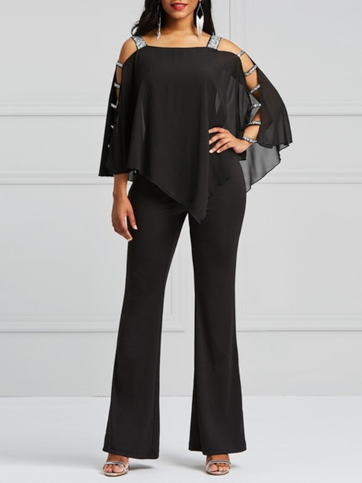 Patchwork Plain Full Length Slim Women's Jumpsuits
