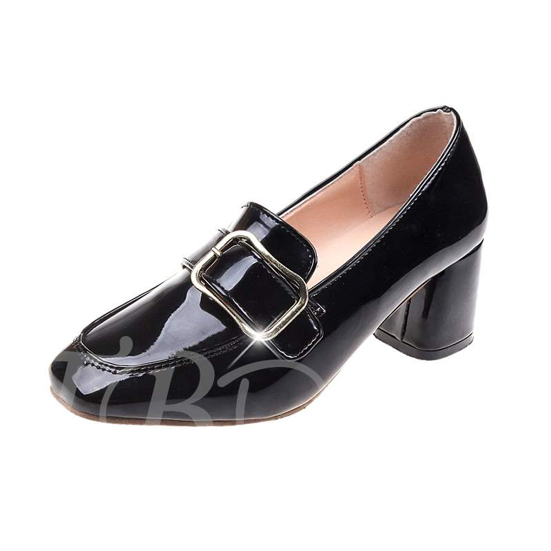 Buy Slip-On Chunky Heel Square Toe Buckle Vintage Women's Pumps, Spring,Summer,Fall, 13394462 for $34.19 in TBDress store