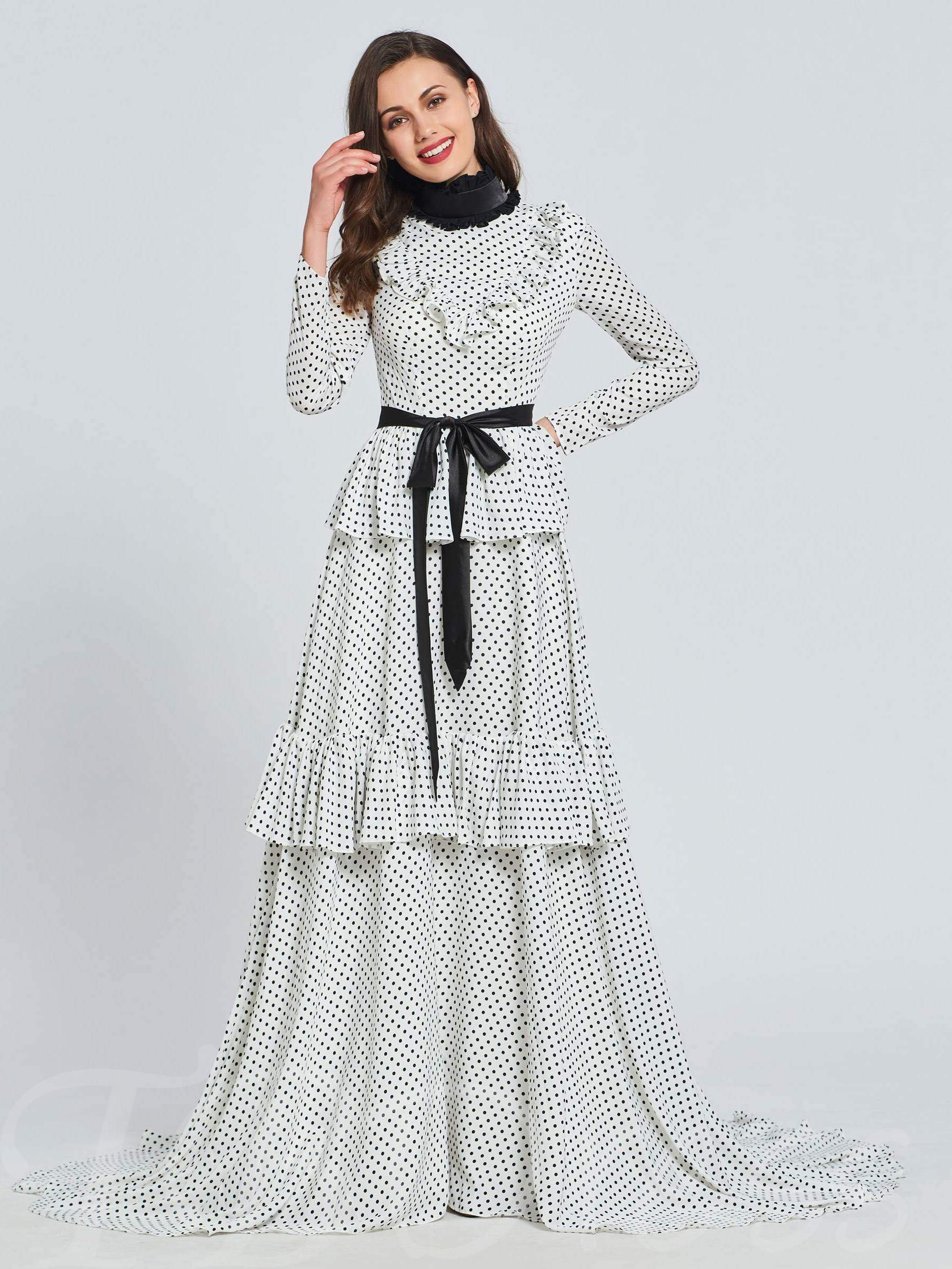 Buy A-Line High Neck Multi Color Evening Dress, Spring,Summer,Fall,Winter, 13393525 for $176.99 in TBDress store