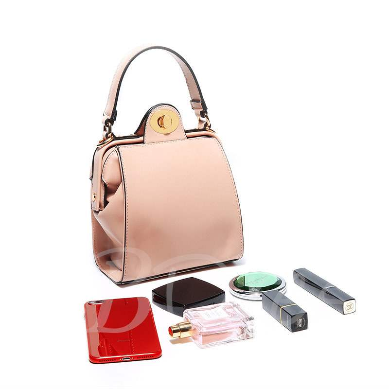 Fresh Casual Rectangle Lock Women Tote Bag