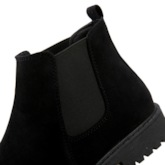 Suede Round Toe Elastic Flat Chelsea Ankle Boots for Men