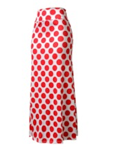 Polka Dots Bodycon Ankle Length Women's Skirt