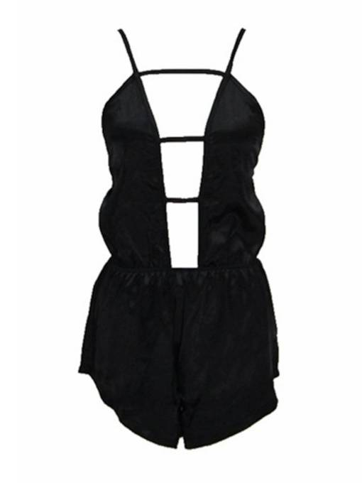 Sexy Hollow Strap Short Women's Romper