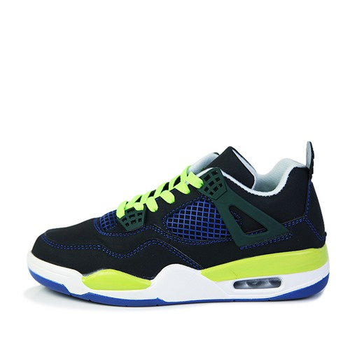 Lace-Up Round Toe Fluorescent Color Patchwork Stylish Men's Sneakers