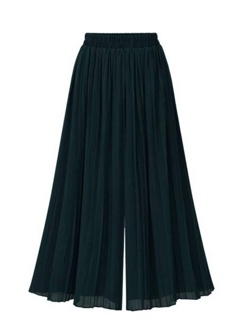 Loose Wide Legs Pleated Chiffon Women's Casual Pants