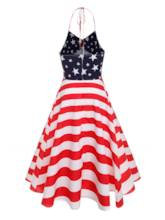 Halter Stars and Stripes Women's Day Dress