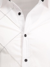 Lapel Plaid Decorated Slim Fit Long Sleeves Men's Button Shirt