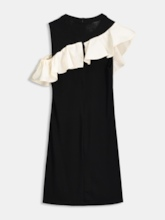 Black Sleeveless Pullover Women's Day Dress