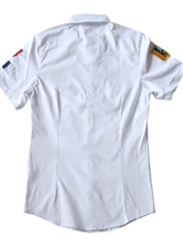 Military Men's Slim Shirt - Solid Colored Spread Collar