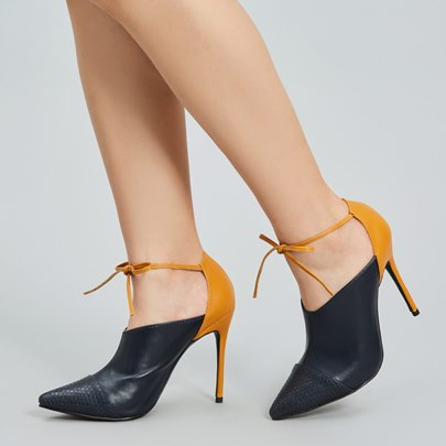Contract Color Buckle OL Style Women's Pumps