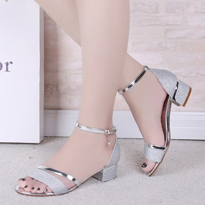 Heel Covering Block Heel Elegant Women's Sandals