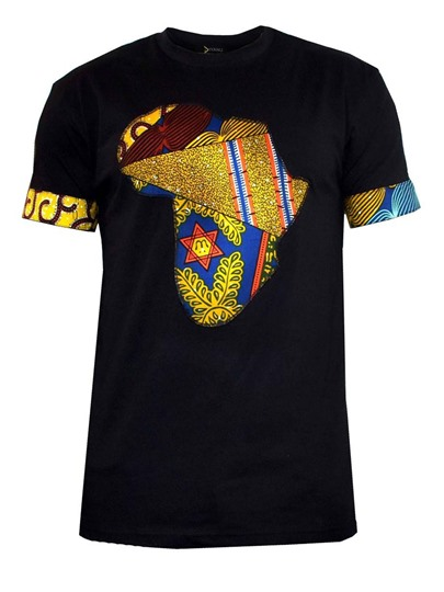 Patchwork Print Men's African T-Shirt