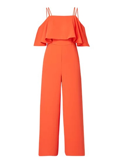 Plain Double Layered Cami Women's Jumpsuit