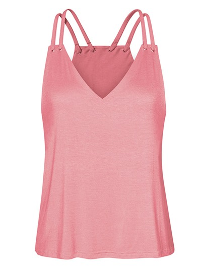 Pure Color V-Neck Slim Women's Tank Top