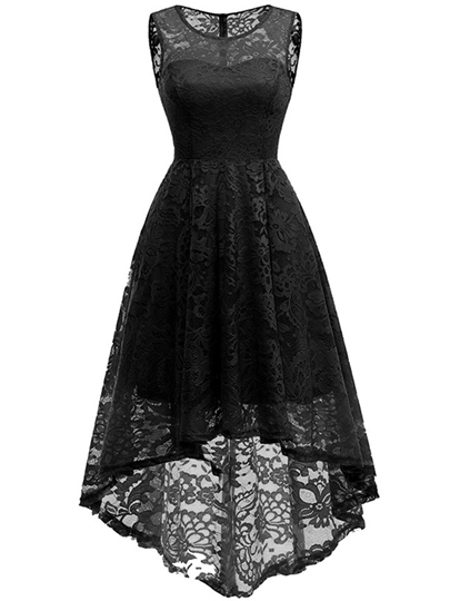Sleeveless Asym Women's Lace Dress