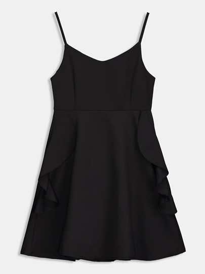 Backless Falbala Women's Sexy Dress