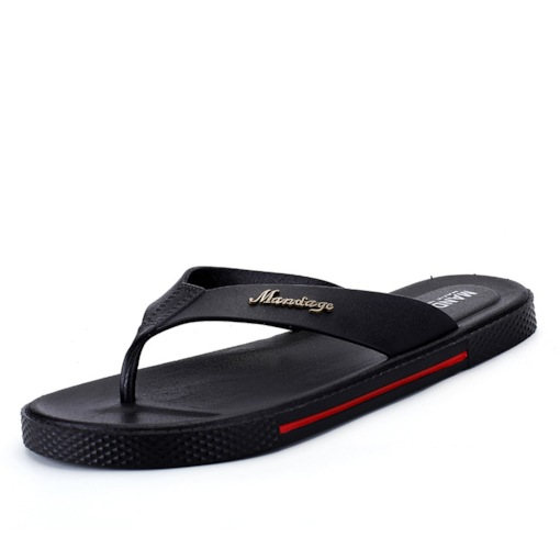 Rubber Plain Casual Thong for Man