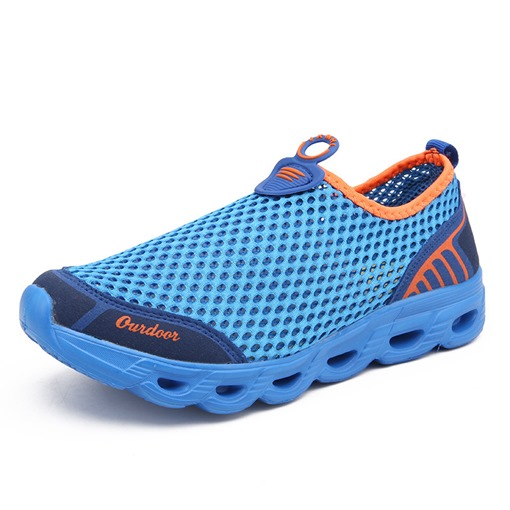 Hollow Mesh Breathe Summer Slip-On Shoes for Men