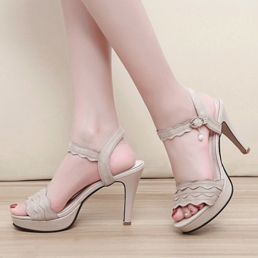 Ankle Strap Open Toe Buckle Platform Women's Sandals
