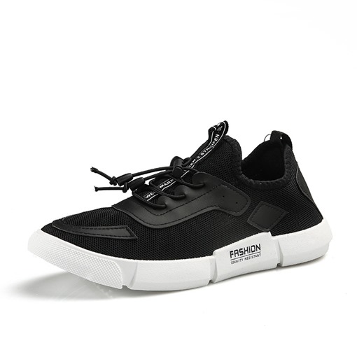 Elastic Band Mesh Breathable Plain Men's Sneaker