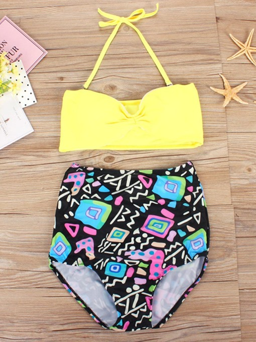 European High-Waist Print Bikini